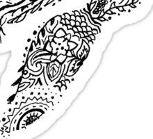 Mermaid Silhouette Mandala  Sticker