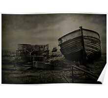 Boat Wreck And Pots Poster