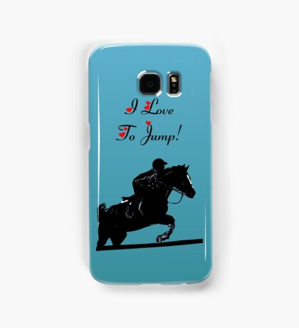 I Love To Jump! Horse iPod & iPhone Cases Samsung Galaxy Case/Skin