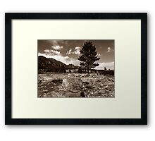 Plains meets the Rockies Framed Print