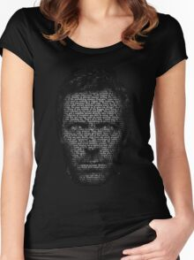 House MD made with text Women's Fitted Scoop T-Shirt