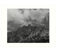 Man in the Mountain Art Print