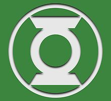 Green Lantern Insignia (White) by ZetaOfS