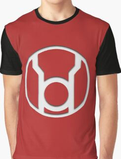 Red Lantern Insignia (White) Graphic T-Shirt