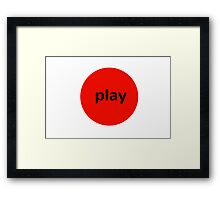 Play Framed Print