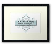 Northpole Inspired Sayings Framed Print