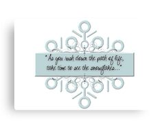 Northpole Inspired Sayings Canvas Print