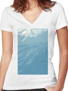 Boris - Flood Women's Fitted V-Neck T-Shirt