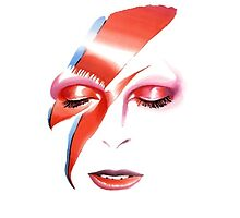 Bowie Faces Aladdin Sane by GiraffesAreCool