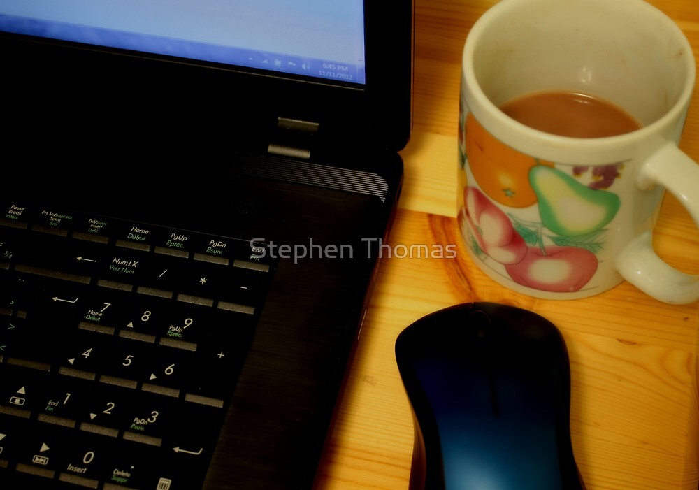 Coffee while browsing  by Stephen Thomas