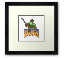 DOOM SPACE MARINE Framed Print