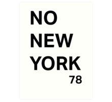No New York Art Print