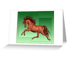 Horse 4 .. calendar Greeting Card