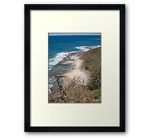 Down to the sand Framed Print