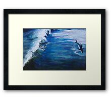 Jumping the Waves Framed Print