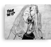 Marcie Get's The Axe Sketch Canvas Print