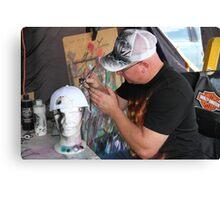 Man At Work: Air Brush Artist Canvas Print