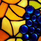 Stained Glass Grapes iPad Case by Betty Northcutt