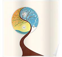 Yin-Yang Tree: Summer-Winter Poster