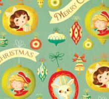Merry Christmas Vintage Pattern Sticker