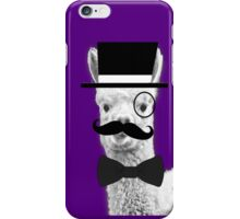 Alpaca Gentleman iPhone Case/Skin