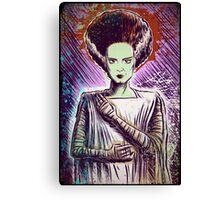 Bride of Frankenstein art doctor dr frankenstein halloween christmas frankenstien cult classic universal monster monsters joe badon Canvas Print