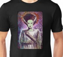 Bride of Frankenstein art doctor dr frankenstein halloween christmas frankenstien cult classic universal monster monsters joe badon Unisex T-Shirt