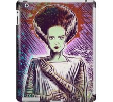 Bride of Frankenstein art doctor dr frankenstein halloween christmas frankenstien cult classic universal monster monsters joe badon iPad Case/Skin