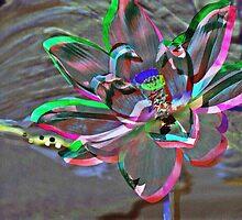 Rainbow Ribbon Lotus by myraj