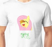 Fluttershy with a leaf on her face Unisex T-Shirt