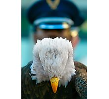 Eagle paying respects on Veterans Day Photographic Print