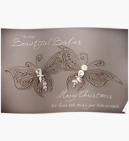 Beautiful Babies - Multiple Loss/Twins Christmas Poster