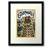 Dalek Dr Who art the Doctor Who BBC davros tardis the doctor david tennant exterminate matt smith british gridlock stolen earth sci fi christmas joe badon Framed Print