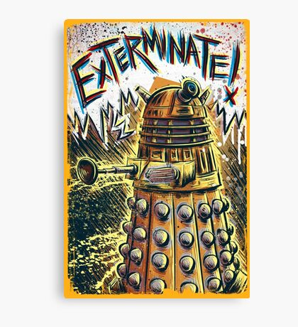 Dalek Dr Who art the Doctor Who BBC davros tardis the doctor david tennant exterminate matt smith british gridlock stolen earth sci fi christmas joe badon Canvas Print