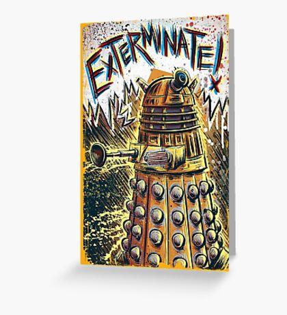 Dalek Dr Who art the Doctor Who BBC davros tardis the doctor david tennant exterminate matt smith british gridlock stolen earth sci fi christmas joe badon Greeting Card