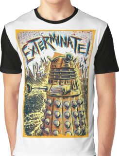 Dalek Dr Who art the Doctor Who BBC davros tardis the doctor david tennant exterminate matt smith british gridlock stolen earth sci fi christmas joe badon Graphic T-Shirt