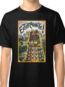 Dalek Dr Who art the Doctor Who BBC davros tardis the doctor david tennant exterminate matt smith british gridlock stolen earth sci fi christmas joe badon Classic T-Shirt
