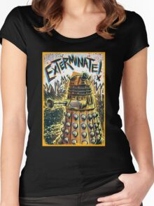 Dalek Dr Who art the Doctor Who BBC davros tardis the doctor david tennant exterminate matt smith british gridlock stolen earth sci fi christmas joe badon Women's Fitted Scoop T-Shirt