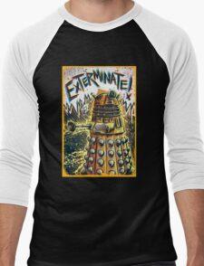 Dalek Dr Who art the Doctor Who BBC davros tardis the doctor david tennant exterminate matt smith british gridlock stolen earth sci fi christmas joe badon Men's Baseball ¾ T-Shirt
