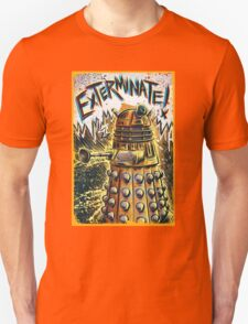 Dalek Dr Who art the Doctor Who BBC davros tardis the doctor david tennant exterminate matt smith british gridlock stolen earth sci fi christmas joe badon Unisex T-Shirt