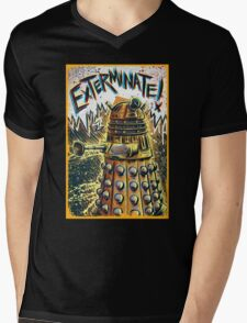 Dalek Dr Who art the Doctor Who BBC davros tardis the doctor david tennant exterminate matt smith british gridlock stolen earth sci fi christmas joe badon Mens V-Neck T-Shirt