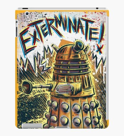 Dalek Dr Who art the Doctor Who BBC davros tardis the doctor david tennant exterminate matt smith british gridlock stolen earth sci fi christmas joe badon iPad Case/Skin