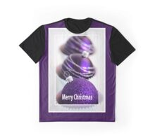 Merry Christmas - Purple Baubles Graphic T-Shirt