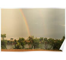 Rainbow Over Marion County Lake Poster