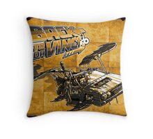 Back to Da Vinci! Throw Pillow