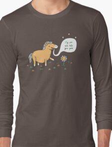 My poo will help you grow Long Sleeve T-Shirt