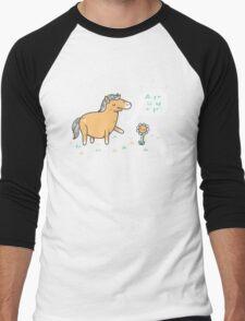 My poo will help you grow Men's Baseball ¾ T-Shirt