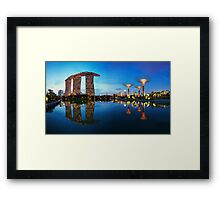 Reflections By The Bay Framed Print