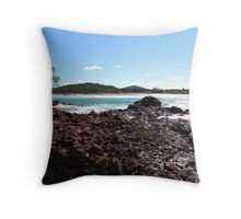 Adding colour at 'Red Rock' North coast N.S.Wales. Throw Pillow