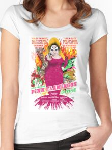 John Waters Pink Flamingos Divine Cult Movie  Women's Fitted Scoop T-Shirt